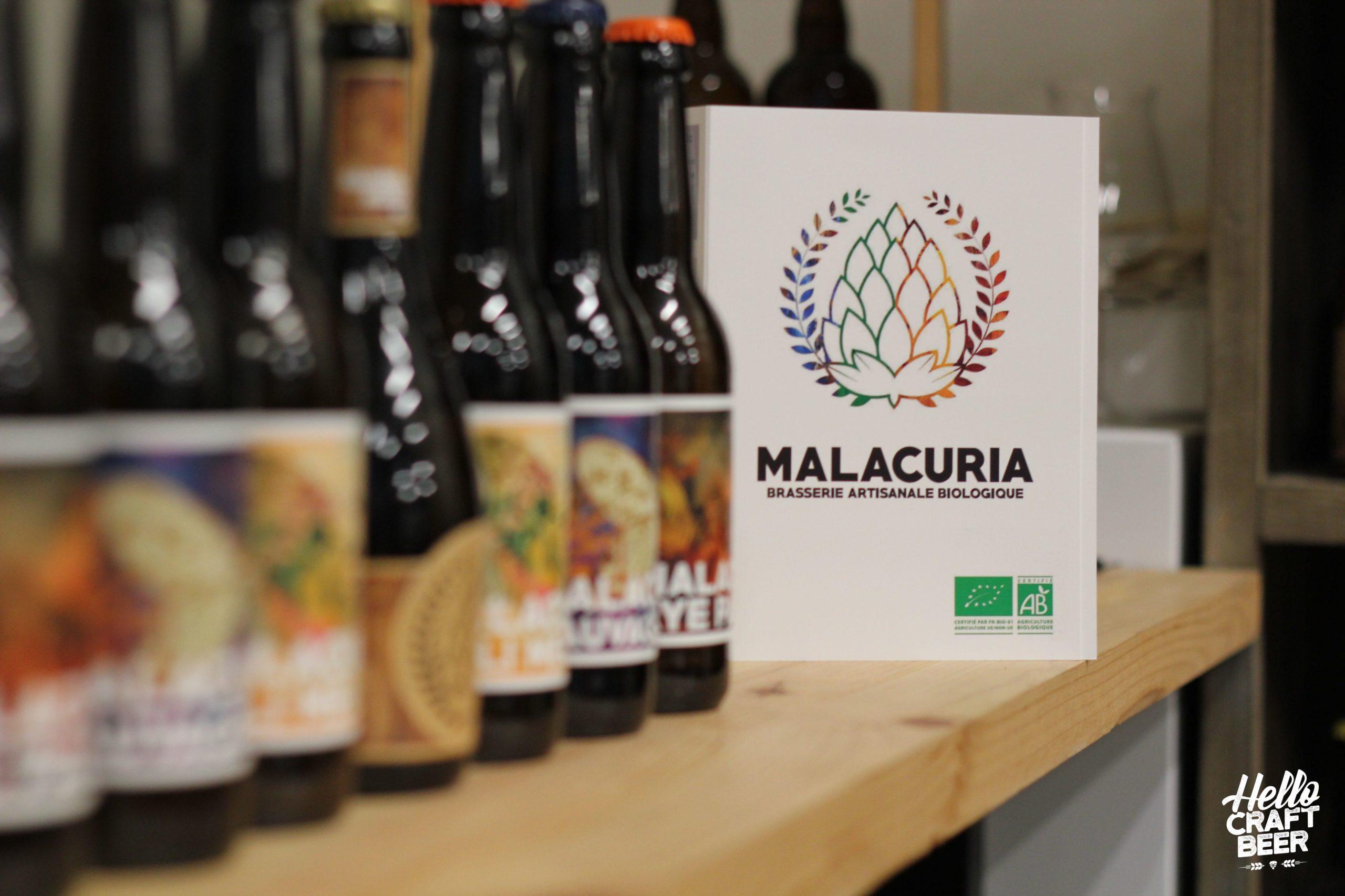 Bouteilles de bière de la brasserie Malacuria